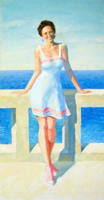 Ved Havet by Misha Lapitskiy | maleri