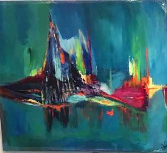 Funny Island by Alice Dønns | maleri