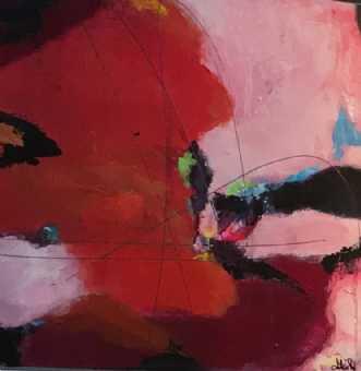 Symfoni in red 1 by Alice Dønns | maleri