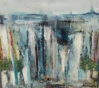 Vandfald by Alice Dønns | maleri