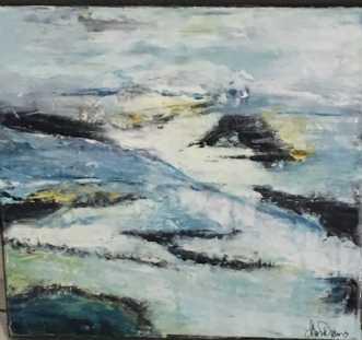 stranden 2 by Alice Dønns | maleri