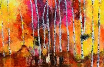 Sunni days - 2 pc's.. by Alice Dønns | maleri