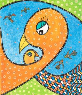 En Moders Omsorg / A Mothers Care | Maleri