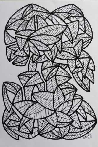 Abstrakt 1 by Klaus Brage | tegning