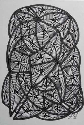 Abstrakt 2 by Klaus Brage | tegning