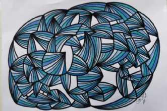 Abstrakt 3 by Klaus Brage | tegning