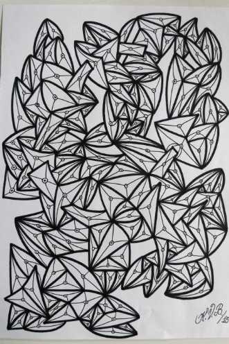 Abstrakt 4 by Klaus Brage | tegning