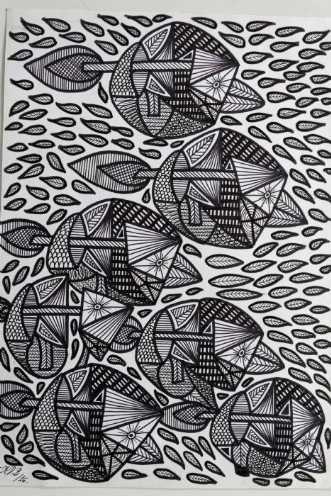 Fisk eller fugl? by Klaus Brage | tegning