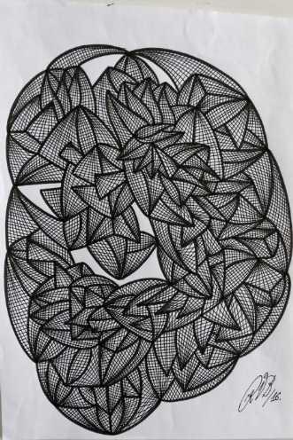 Abstrakt 5 by Klaus Brage | tegning