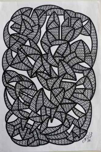 Abstrakt 6 by Klaus Brage | tegning
