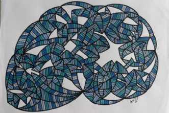 Abstrakt 8 by Klaus Brage | tegning