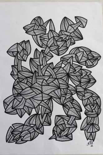 Abstrakt 7 by Klaus Brage | tegning