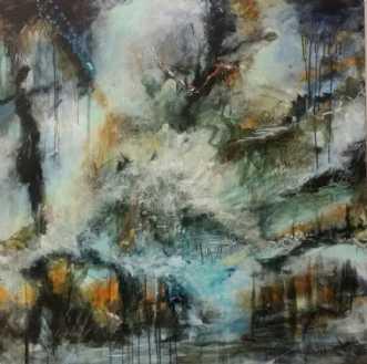 Fantasy Caves by Iben Bjerre   maleri