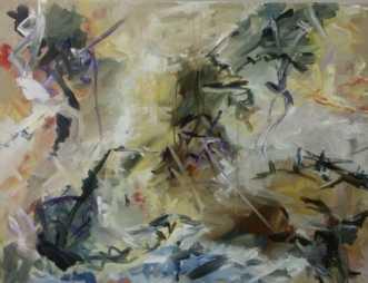 Underfundige verden by Iben Bjerre | maleri
