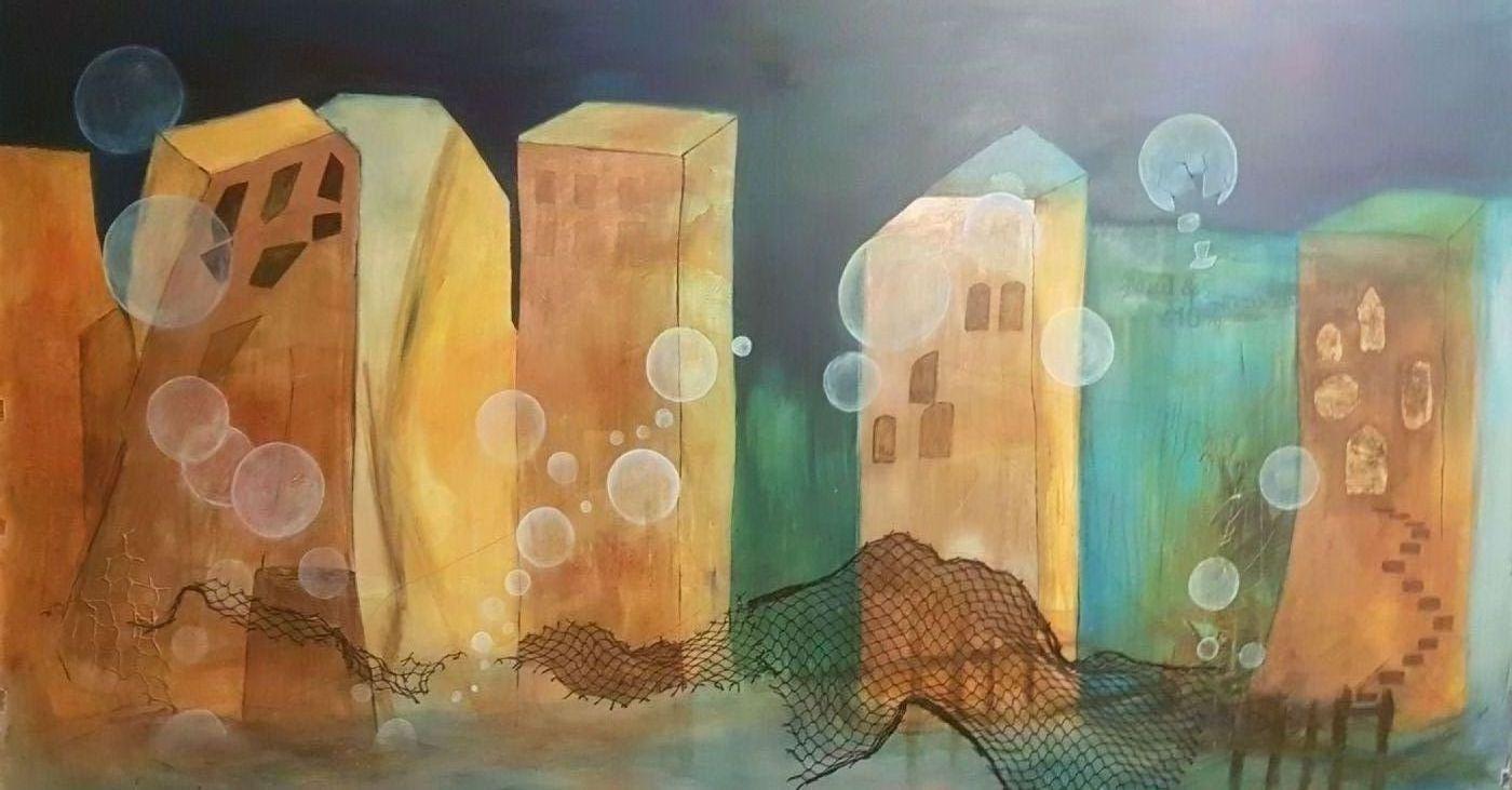 CO2en bobler by Iben Bjerre | maleri