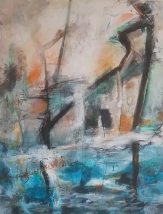 Oven gaden, Neden v.. by Iben Bjerre | maleri