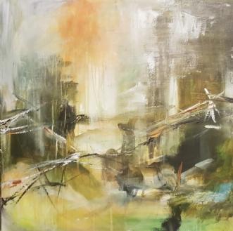 uden tittel by Iben Bjerre | maleri