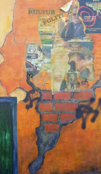 Søjlen på torvet by Iben Bjerre | maleri
