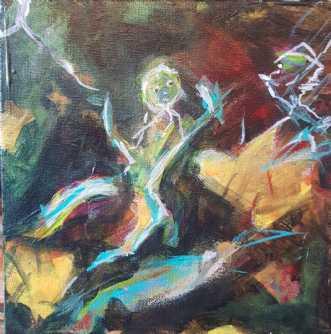 Fantasterne 1 by Iben Bjerre | maleri