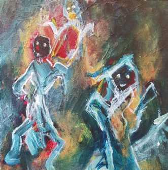 Fantasterne 2 by Iben Bjerre | maleri