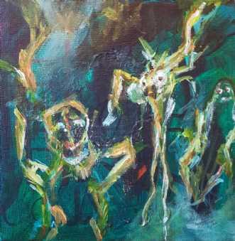 Fantasterne 3 by Iben Bjerre | maleri