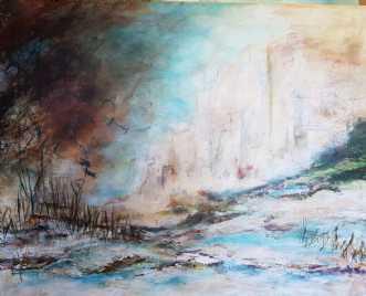 Ved Klinten by Iben Bjerre | maleri