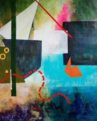 På langfart by Iben Bjerre | maleri