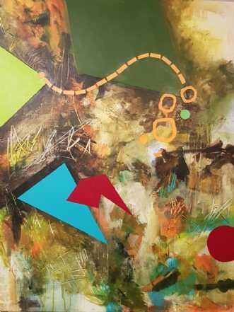 Skovhusene by Iben Bjerre | maleri