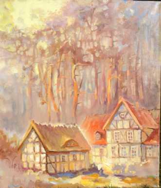 Sommerhus by Natawatts | maleri