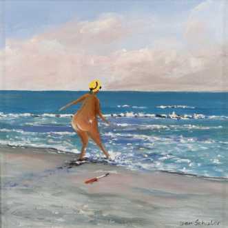 Mette morgenbader by Jan Schuler   maleri