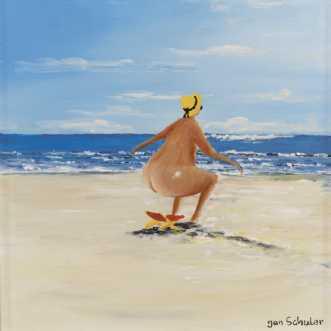 Mette med sin stran.. by Jan Schuler | maleri