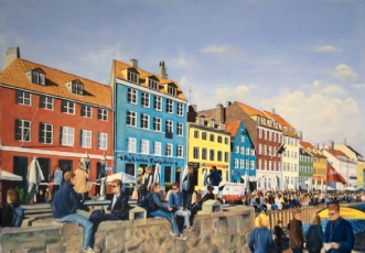 Nyhavn by Jan Schuler | maleri
