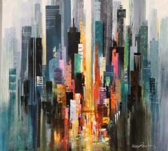 Motiv fra Manhattan by Holger Poulsen | maleri
