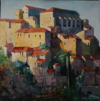 Vinby i Toscana by Holger Poulsen | maleri