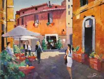 Trastévere, Rom Tid.. by Holger Poulsen | maleri