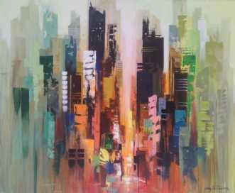 Manhattan  by Holger Poulsen | maleri