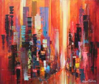 42th street by Holger Poulsen | maleri