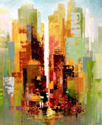 Autumn on Manhattan by Holger Poulsen   maleri