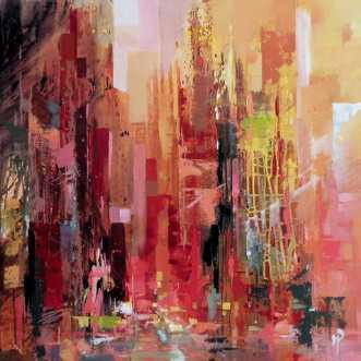 Red Light District by Holger Poulsen | maleri