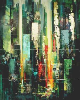 Wall Street Shuffle by Holger Poulsen | maleri