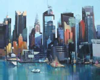 Hudson River by Holger Poulsen | maleri