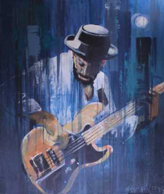 Marcus Miller by Holger Poulsen | maleri