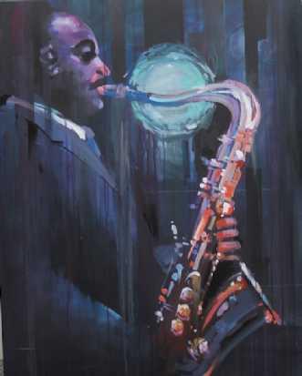 Coleman Hawkins by Holger Poulsen | maleri