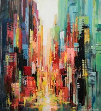 Little Italy by Holger Poulsen | maleri