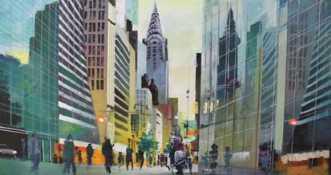 Chrysler Building, .. by Holger Poulsen | maleri