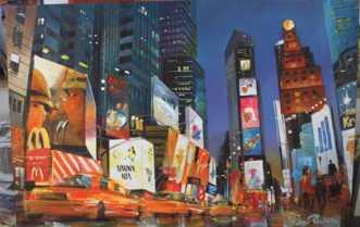 Heavy Traffic on Times SquareafHolger Poulsen