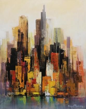 Manhattan, Autum sk.. by Holger Poulsen | maleri