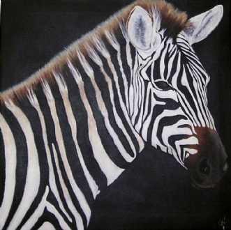 Zebra time by Grete Ryberg Høgh | maleri