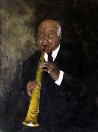 Sidney Bechet by Grete Ryberg Høgh | maleri