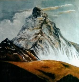 Matterhorn by Grete Ryberg Høgh | maleri